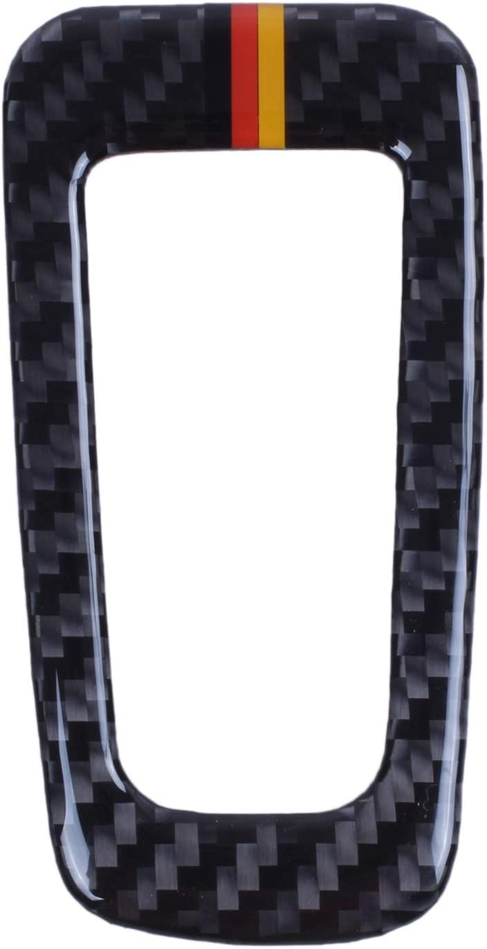 WOVELOT Pulsante in Fibra di Carbonio Pulsante elettronico Freno a Mano Coperchio Pulsante Cornice Cornice per Mercedes C Classe W205 GLC Accessori Nero