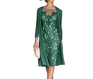 Sky Dress Women's Mother of The Bride Dresses Tea Length with Jacket SD001TQ-US24W