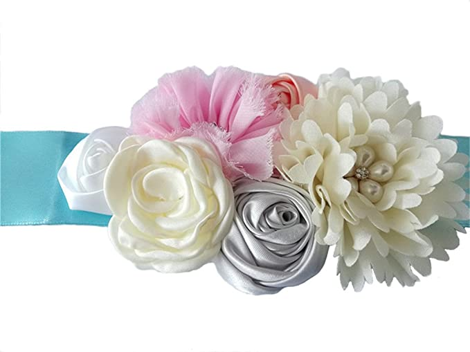 a97f783b8 Maternity Satin Ribbon Belt with Flower for Photo Shoot