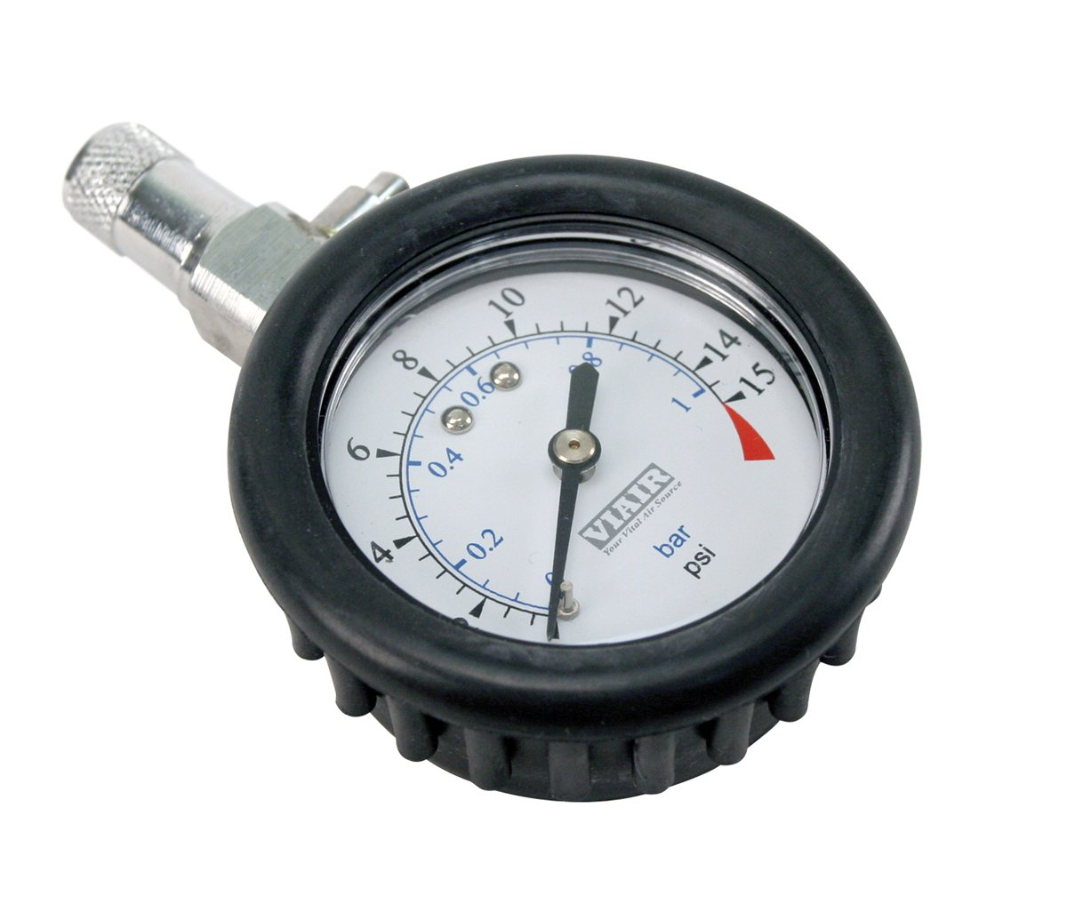 0 to 15 PSI Tire Gauge with Boot VIAIR 90058 2.0