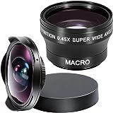 Neewer® 37MM Objectif Kit pour Sony DCR Caméras, kit comprend: (1) 37MM 0.3X HD Ultra Fisheye Set + (1) 37MM grand angle 0.45x avec détachables Lentille MACRO et Lens Cap et Objectif sac de transport