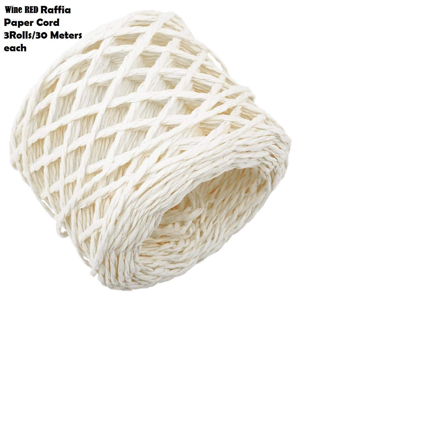 30 Metres Paper Raffia Cords Twine Ropes String for DIY Craft Scrapbook Material