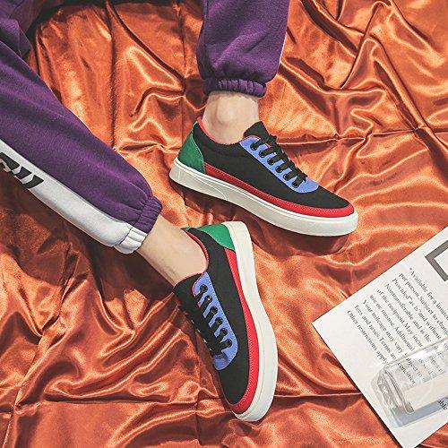Zapatos Hombre BUIMIN - Zapatilla De Lona Deportivo Novedad Moda Guay Cómodo Color Negro/Azul/Gris Talla 39/40/41/42/43/44 (41, negro)