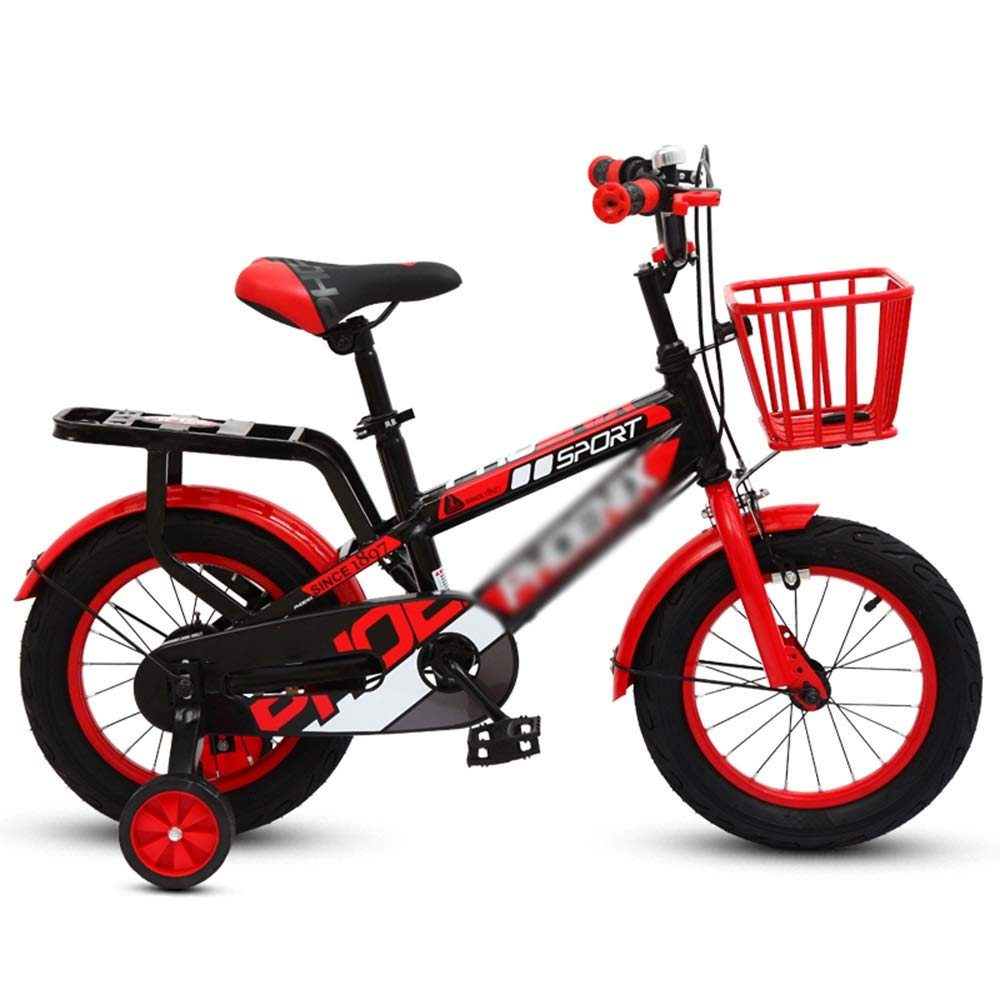 rot 12 inch Kinderfahrräder Duo Mädchenfahrrad, Jungenfahrrad Trainingsrädern im Alter von 2 bis 14 Jahren, 95% montiert
