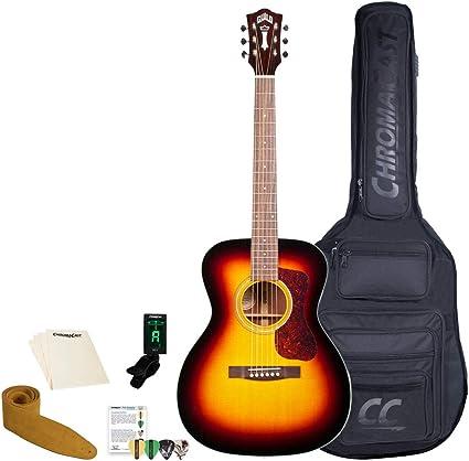 Hermandad D-140 sb-kit-1 guitarra acústica con Poly espuma caso ...