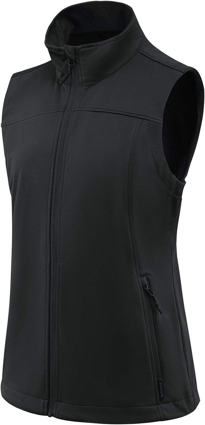 BALEAF Women's Lightweight Vest Softshell Sleeveless Jacket Windproof Stand Collar with Zipper Pockets Running Hiking Golf: Sports & Outdoors