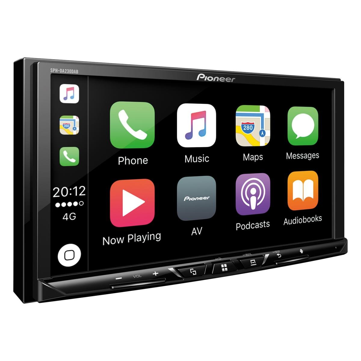 Apple CarPlay // Android Auto Pioneer SPH-DA230DAB 2DINAutoradio Bluetooth 7 Zoll Clear-Resistive-Touchpanel DAB+ Digitalradio