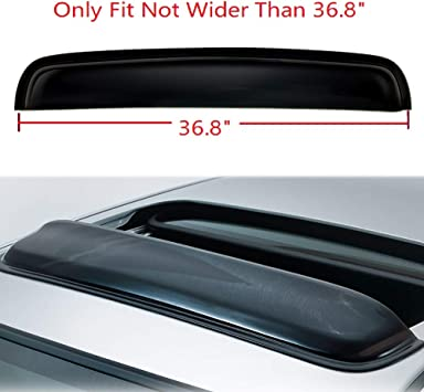 Sunroof Rain Guard Roof Top Deflector Visor For Mid Size Vehicle 980mm 38.5/""