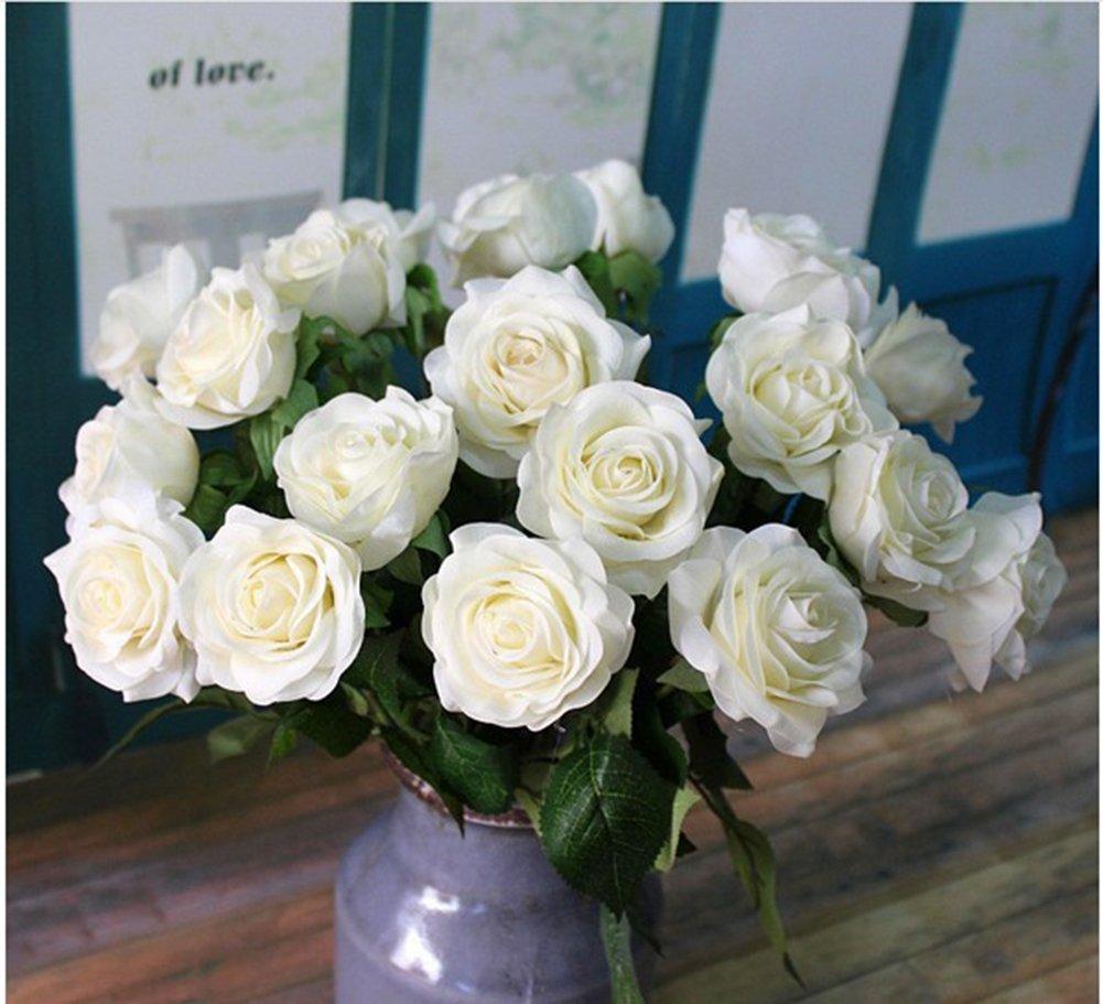 10pcs//set  Fake Flower Wedding Birthday Party Home Decoration Silk Tea Rose