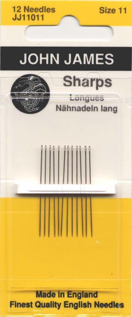 Colonial Needle JJ110-11 12 Count John James Sharps Needles, Size 11 Colonial Needle Co