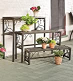 Set of Three Nesting Plant Stands With Scrollwork