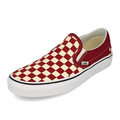 Zapatillas Vans Classic Slip-On (Checkerboard) Rumba Granate 42.5: Amazon.es: Zapatos y complementos