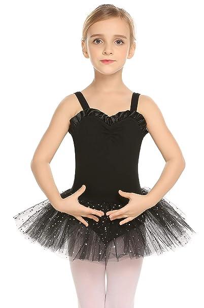 80ad143ff Amazon.com  Arshiner Kid Girls Shiny Ballet Tutu Dance Glitter ...