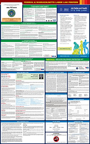 2017 Massachusetts State and Federal All-in-one Labor Law Poster - English