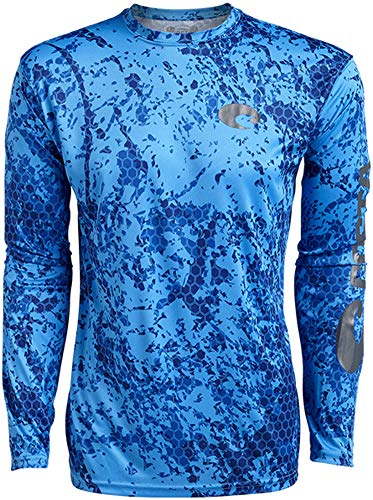 Costa Del Mar Hexo Technical Long Sleeve Shirt - Blue Camo - ()