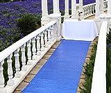 Zdada Royal Blue parkling Wedding Party Aisle Runner 48''Wide By 15ft Long Ceremony Sequin Carpet Floor Runner