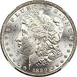 1890 CC Morgan Dollars VAM-4 Tail Bar Dollar MS63 NGC