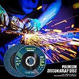 "Simniam 20 Pack Flap Discs 4.5"" x 7/8"", High"