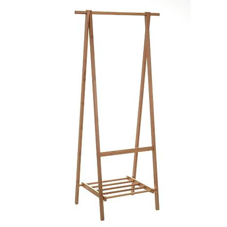 Perchero de Suelo nórdico marrón de bambú para Dormitorio de ...