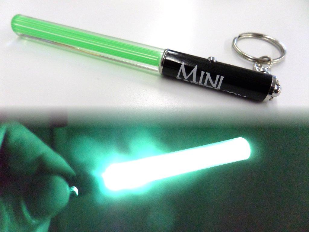 VERDE Mini luz del partido del llavero del sable de Star Wars light saber clubes palillos ligeros LED partes Jedi baile V. roja fresca, verde o rosa ...