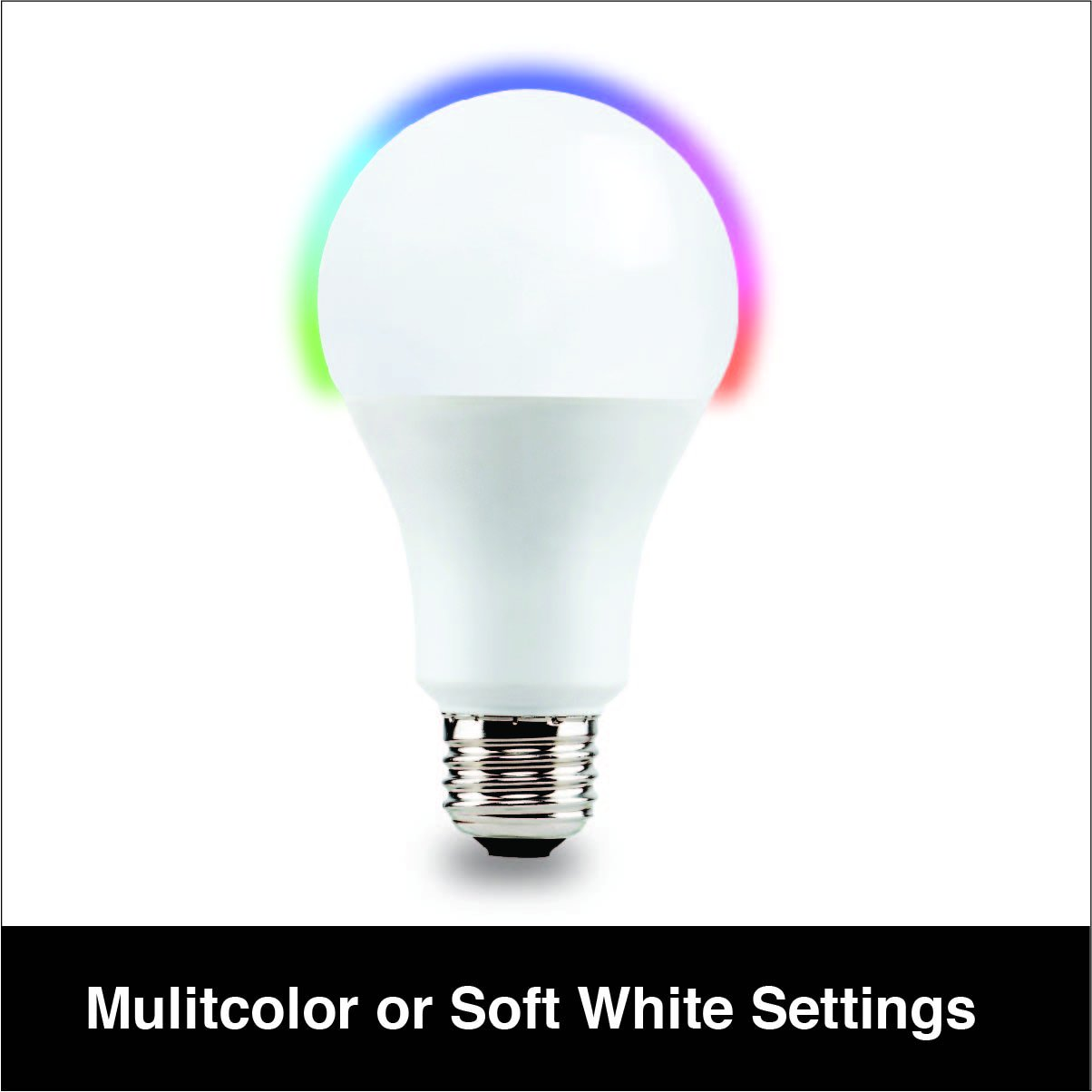 Vivitar LB-60 450 Lumens (40W) Wireless Smart Multi Colored LED Bulb, Wireless Wi-Fi Enabled Smart Bulb, Programmable Timer, Home Automation, Energy Efficient and Eco Friendly, White