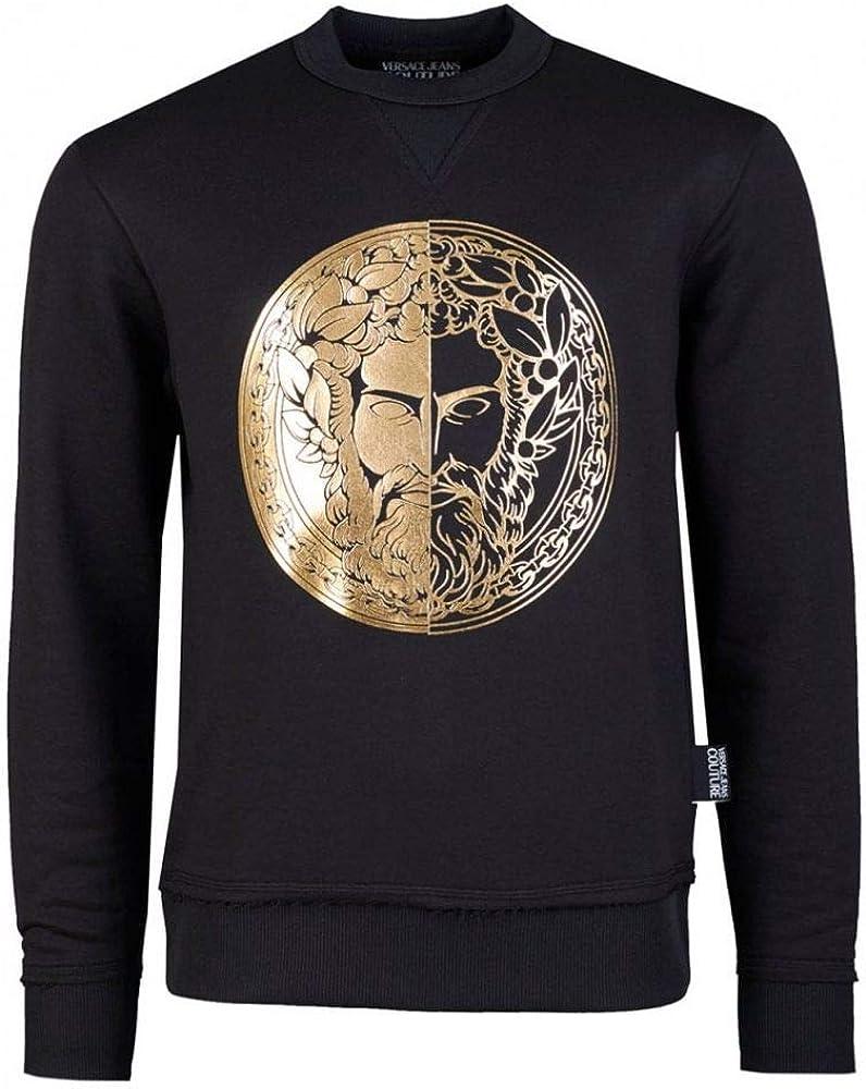 Versace Jeans Couture Cotton Black Sweatshirt S: Amazon.co