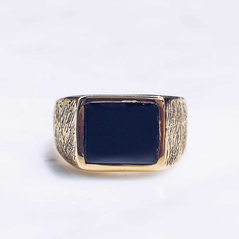 Natural Black Onyx Gemstones Brass Ring /& Gold Plated Jewelry Fine Handmade Brass Ring Jewelry SJ-14