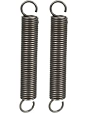 """uxcell® Extended Compressed Spring Wire Diameter 0.047"""", OD 0.39"""", Free Length 2.76"""" Spring Steel Small Dual Hook Tension Spring 2pcs"""