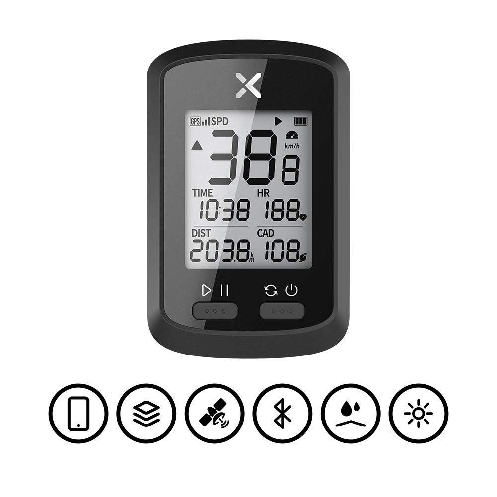 XINGZHE GPS Bike Computer Big Screen with ANT+ Function iGS50E Wireless Cycle Computer Waterproof (G+ GPS Computer) by XINGZHE