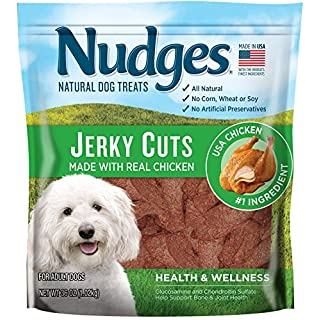 Nudges Health & Wellness Chicken Jerky Dog Treats, 36 oz