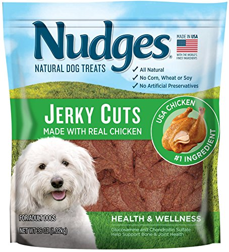 (Nudges Health and Wellness Chicken Jerky Dog Treats, 36 oz)