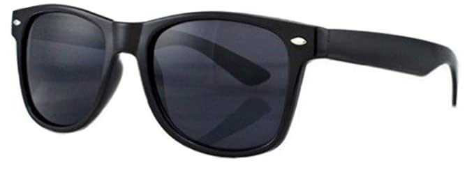 bd846b7871486 PIPEL EYEWEAR Lunettes de Soleil Style Retro Vintage 80'S Geek - Monture  Noir - Verre Noir