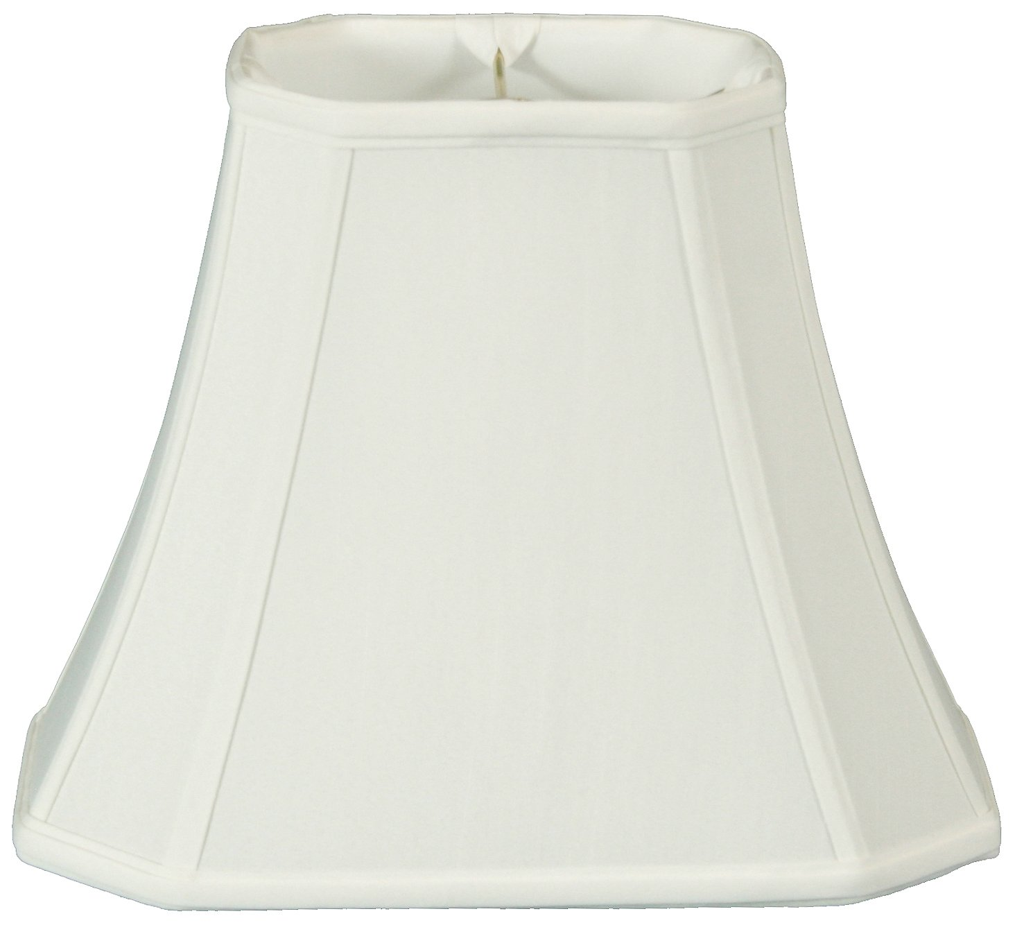 Royal Designs Rectangle Cut Corner Lamp Shade - White - (5 x 6.5) x (8 x 12) x 10