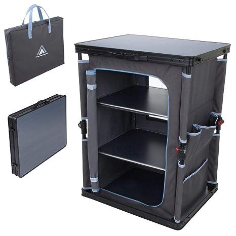 Armario para cocina de acampada con estructura de aluminio de CampFeuer x 82/cm an. a aprox x 47/cm l 102/cm