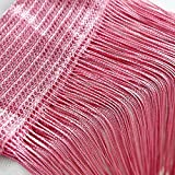Window Drapes Scarf Decor NEARTIME String Curtains Net Fringe for Door Fly Screen Windows Divider Cut To Size 50x200cm