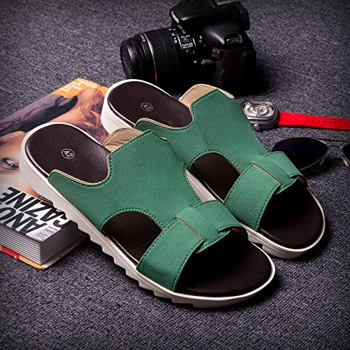 Xing Lin Sandalias De Hombre Tendencia De Verano Flip Flop Sandalias Atar El Cordón Zapatillas Zapatillas Nuevas Zapatillas De Playa De Moda Zapatos Zapatos De Hombre Verde 43081