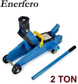 ENERFERO Gato hidráulico de Carretilla con Ruedas Taller mecanico 2 Ton: Amazon.es: Coche y moto