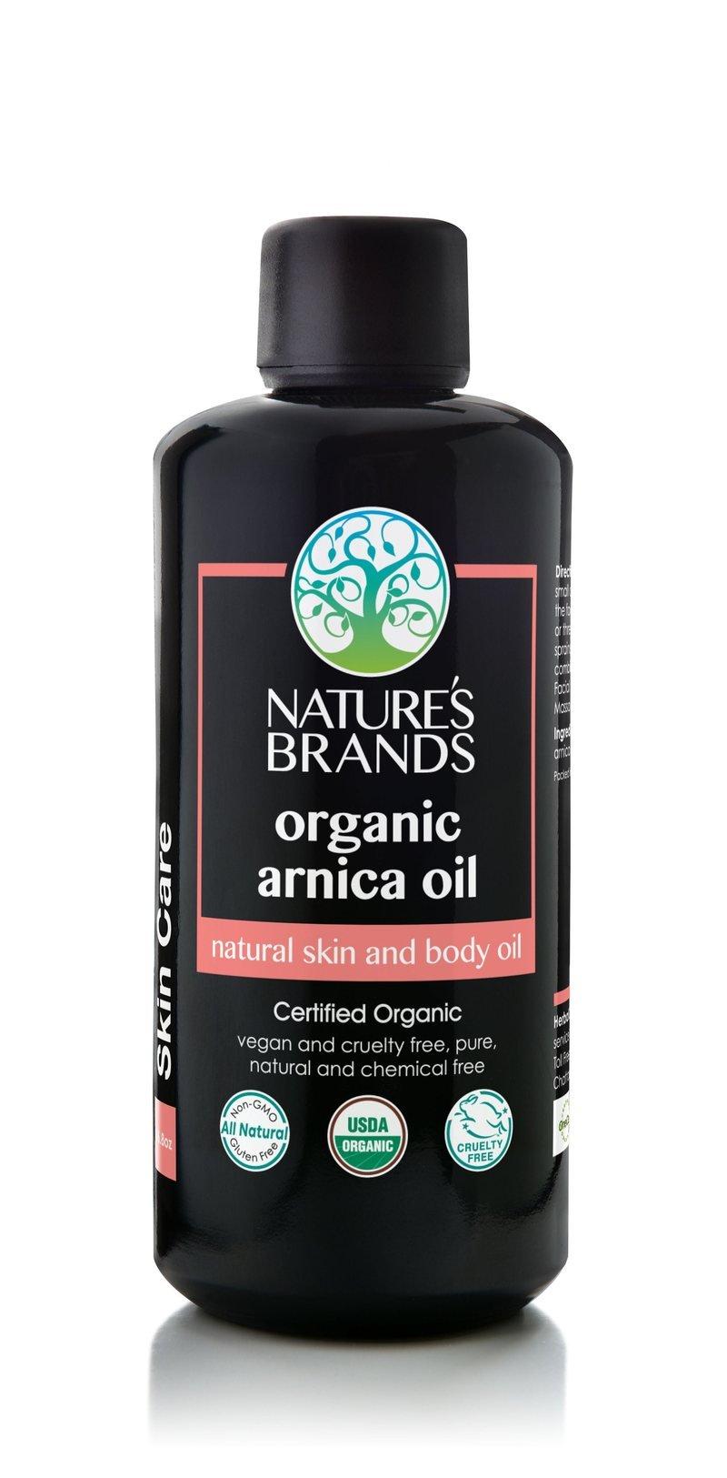 Herbal Choice Mari Organic Arnica Oil; 3.4floz Glass