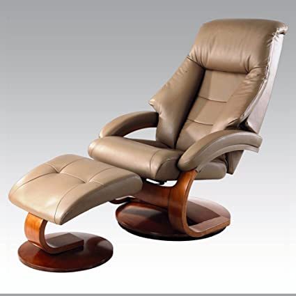 Amazon.com: Rests Luxury Leather Recliner Swivel Chairs with Ottoman ...