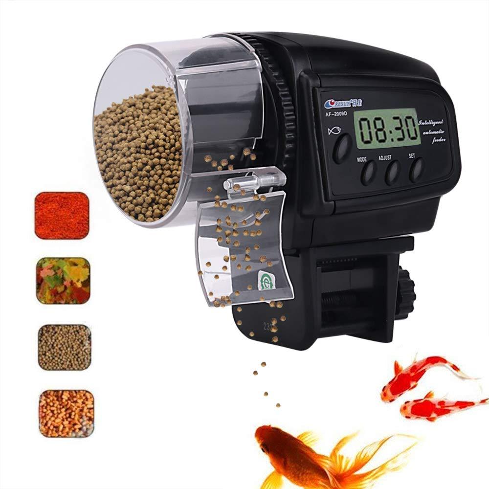 crafts man Automatic Fish Feeder, Koi Fish Turtle Vacation Feeder Aquarium & Fish Tank Fish Food Dispenser Moisture-Proof Ventilation System