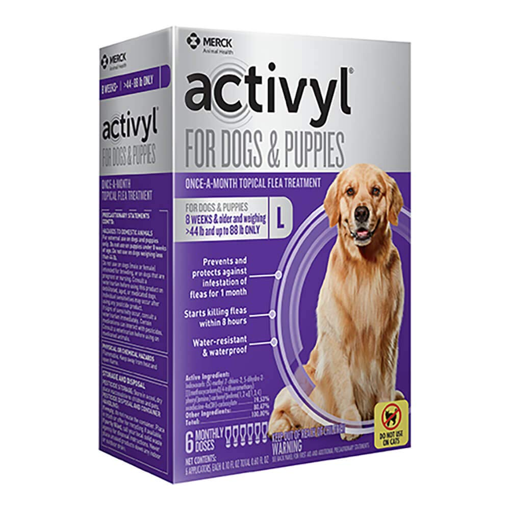 Activyl Large Dogs & Puppies 45-88lbs, 6-pack by Activyl