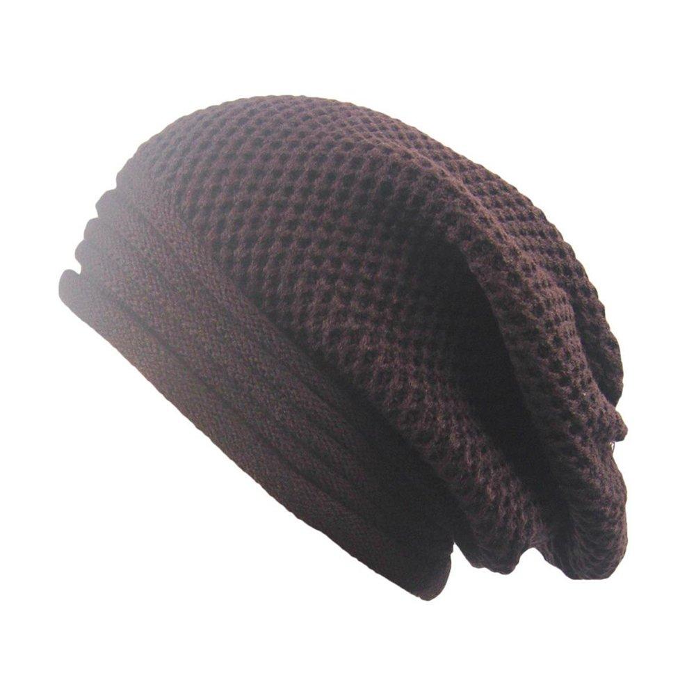 Joyfeel buy Bonnet en Laine tricot/ée Unisexe avec Motif tress/é pour Le Ski en Automne et Hiver Marron