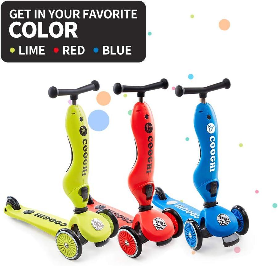 Amazon.com: COOGHI V2 patinete para niños 2 en 1, 3 ruedas ...
