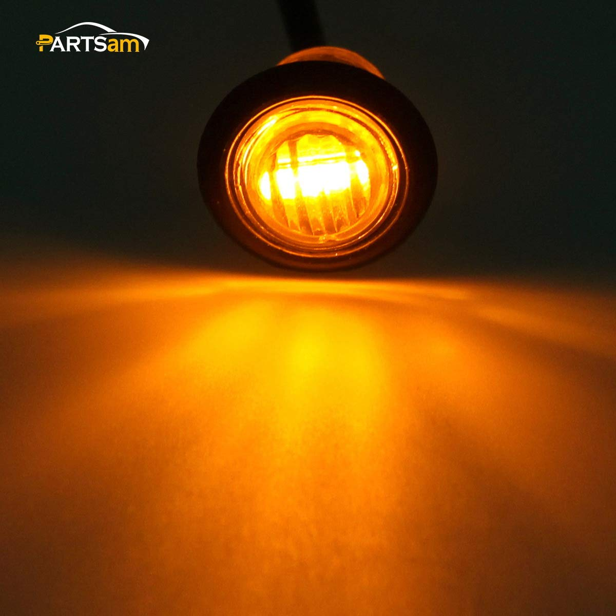 Partsam Pair 3 4 Mini Marker Clearance Light Turn Jeep Tj Parking Wiring Signal 1 Diode Amber Light3 Wires Automotive
