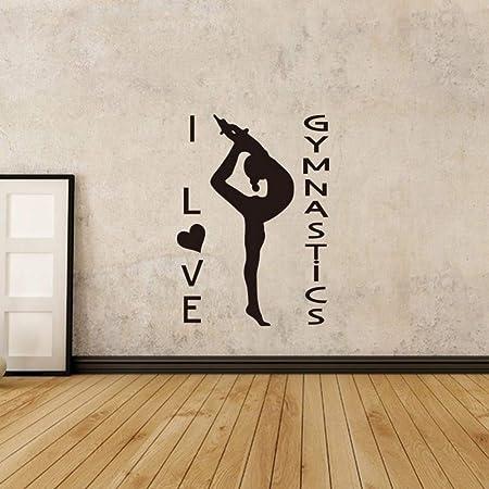 ONETOTOP Yoga Girl Etiqueta de la Pared Gimnasia Atletismo ...