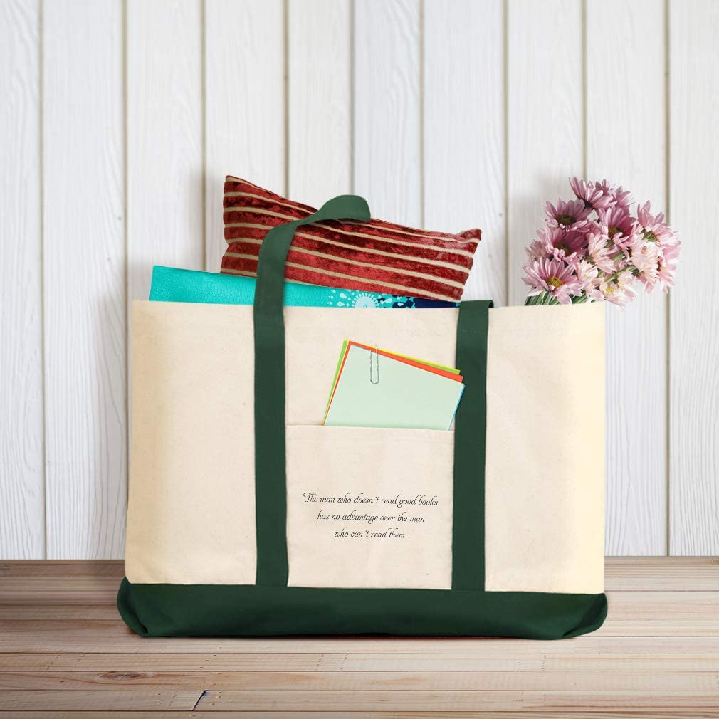 Canvas Shopping Tote Bag DoesnT Read Good Books Advantage over Others Study Beach for Women
