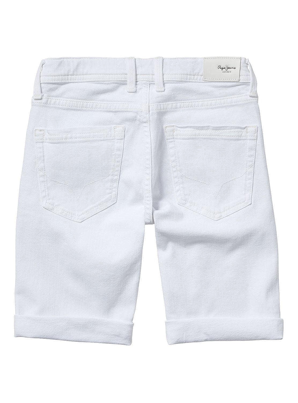 f80ba10a07c Pepe Jeans Bermuda Beckets Blanco 18 Blanco  Amazon.es  Ropa y accesorios