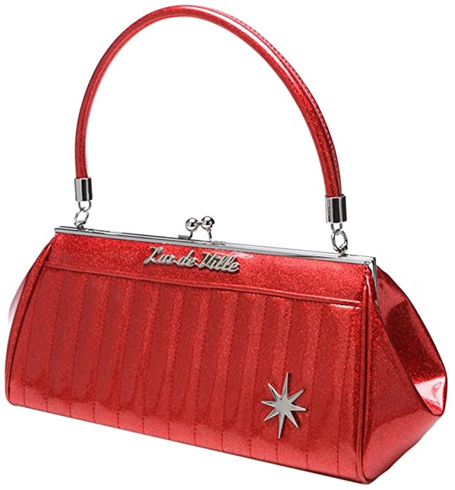Retro Handbags, Purses, Wallets, Bags Lux de Ville Stardust Kiss Lock $79.90 AT vintagedancer.com