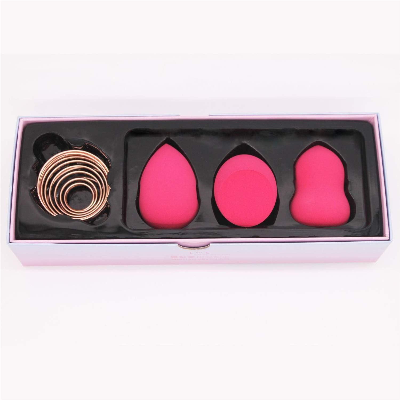 ZHILI Esponja Maquillaje, Esponja De La Belleza Blender Holder, Maquillaje Paquete De 5 Esponja Set De Oro Rosa Maquillaje Esponja Secado Soporte De Almacenamiento Huevo Soplo De Polvo Soporte De Exhi: Amazon.es:
