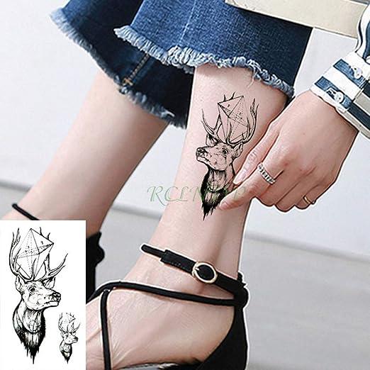 tzxdbh 5Pcs-Etiqueta engomada del Tatuaje a Prueba de Agua Animal ...